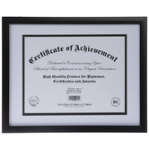 "Black Flat Document Frame - 11"" x 8 1/2"""