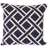 Geometric Embroidered Pillow Cover