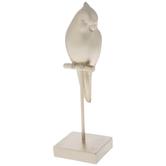 Gold Bird On Perch