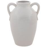 Matte White Vase With Handles