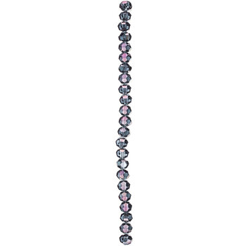Purple Faceted Glass Bead Strand