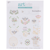 Buzzing Bees Embroidery Transfer Sheet