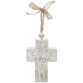 A Child Is Born Wood Wall Cross