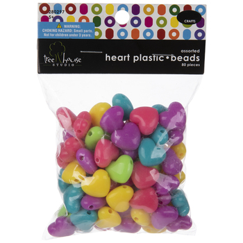 Neon Heart Beads