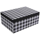 Black & White Buffalo Check Gift Box