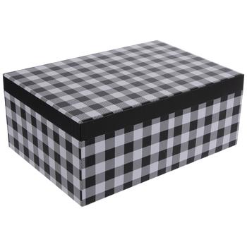 "Black & White Buffalo Check Gift Box - 9 1/4"" x 13 1/4"""