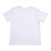 White Youth Crew Neck T-Shirt for Sublimation