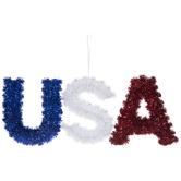 USA Tinsel Wall Decor