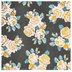 Vintage Roses on Charcoal Scrapbook Paper - 12
