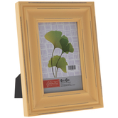 Yellow Distressed Wood Frame
