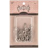 Nickel Safety Pins - Size 00 - 3