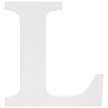 """White Wood Letter L - 3"""""""