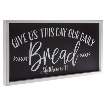 Matthew 6:11 Wood Wall Decor