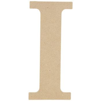 """Wood Letter I - 9 1/2"""""""