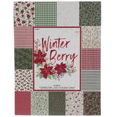 "Winter Berry Cardstock Paper Pack - 8 1/2"" x 11"""