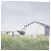 Grass Field Homes Canvas Wall Decor