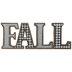 Brown Fall Buffalo Check Wood Decor