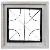 Curving Window Wood Wall Decor
