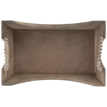 Rectangle Beaded Wood Tray