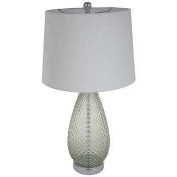 Green Diamond Pattern Glass Lamp