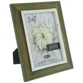 "Olive Rustic Wood Frame - 5"" x 7"""