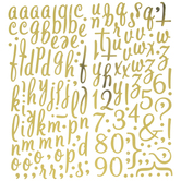 Gold Lullaby Alphabet Stickers