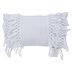 White Tassel Striped Pillow