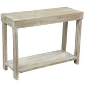 Whitewash Rectangular Accent Table