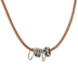 Mixed Metal Bead Leather Necklace