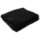 Black Faux Fur Throw Blanket