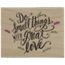 Great Love Rubber Stamp