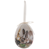 Bunnies & Vegetables Egg Ornament