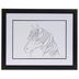 Minimal Horse Sketch Framed Wall Decor