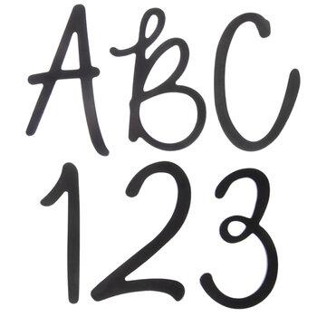 Foil Script Chipboard Alphabet Stickers