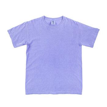 Fluorescent Blue Comfort Colors Heavyweight T-Shirt - Small