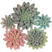 Succulent Cluster Metal Wall Decor