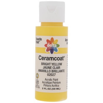 Bright Yellow Ceramcoat Acrylic Paint