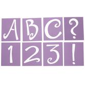 Sophie Uppercase Alphabet Stencils