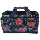 Navy Floral Craft Organizer
