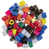 Assorted Primary Oblong Plastic Beads