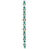 Emerald Pearl, Glass & Rhinestone Strand