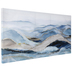 Blue & Gold Abstract Ocean Canvas Wall Decor