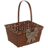 Bamboo Easter Basket With Bow