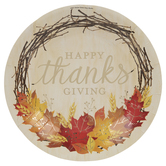 Happy Thanksgiving Wreath Paper Plates