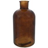 Dark Amber Glass Vase