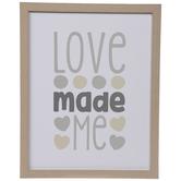 Love Made Me Wood Wall Decor
