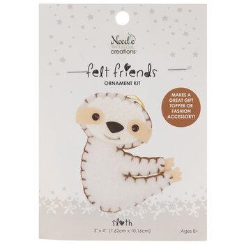 Stuffed Felt Sloth Needle Art Kit