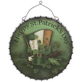 St. Patrick's Bottle Cap Metal Wall Decor