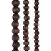 Brown Oval Wood Bead Strands