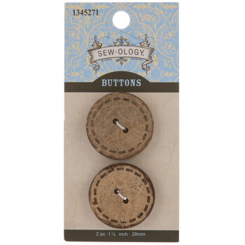 Stitched Coconut Round Buttons